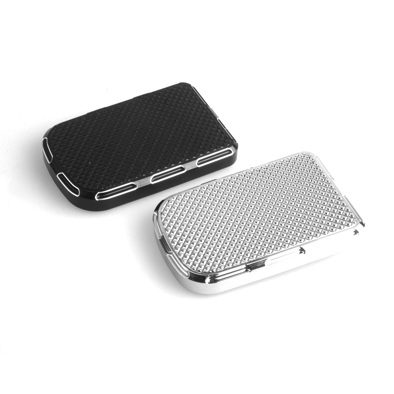 Motorcycle Foot Pegs CNC Beveled Large Brake Pedal Pad Cover Black/Chrome For Harley Touring FLTR FLHR FLHT For Softail