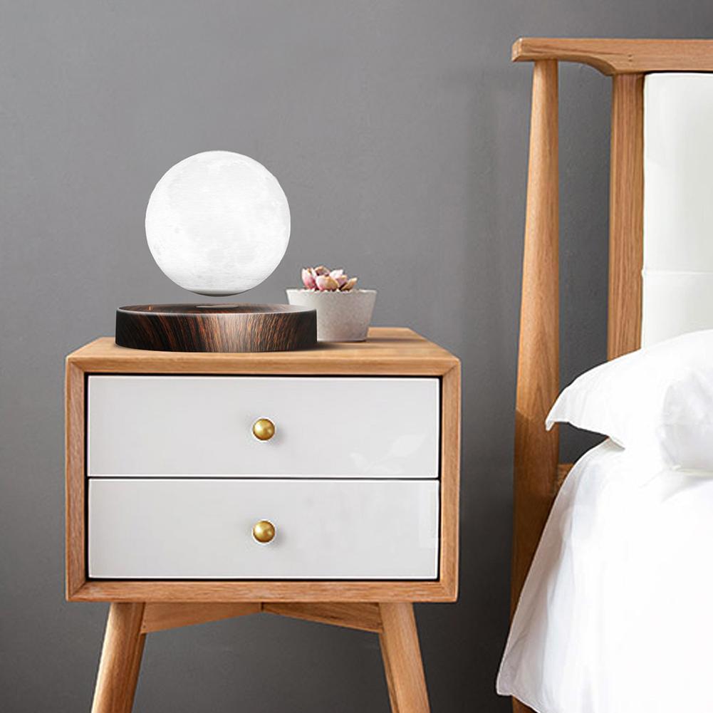 Lámpara de luz de Luna lámpara de escritorio de impresión 3D suspensión magnética para luz de hogar Luz de escritorio Luz de estudio luz Led Luz de cama - 4