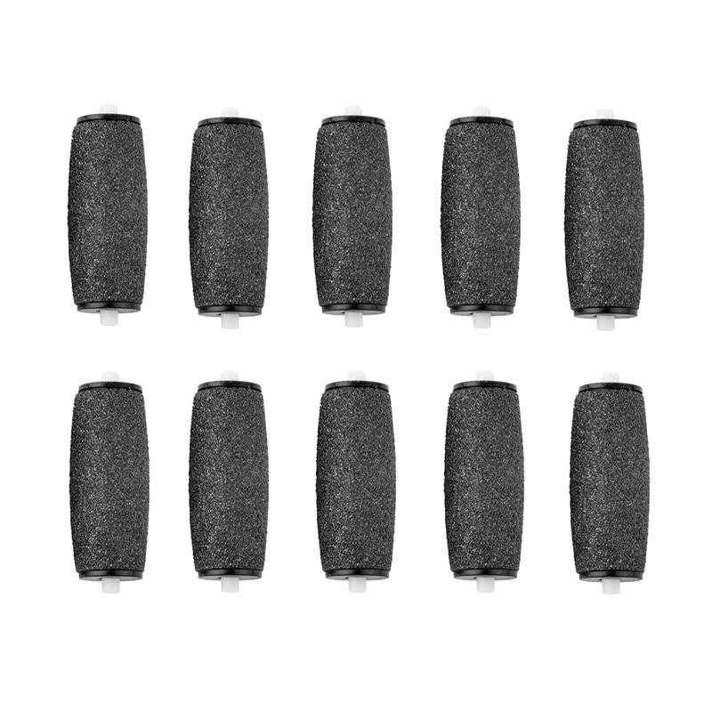 10pcs/lot Black Foot Care Tool Roller Heads Pedicure Herramientas Hard Roller Heads For Scholls N006