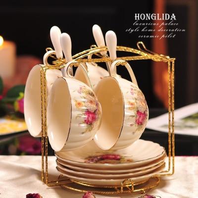 200 мл Афины керамическая кофейная чашка блюдце набор капучино кофе фарфоровая чашка блюдо послеобеденный чай чашка изысканный подарок - Цвет: 06 Set