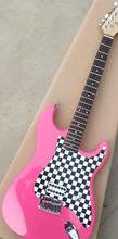 Guitarra eléctrica chiny T L ciężki re lico olcha, madera, cuello de arce flamado, kolor Rosa roja , Envío Gratis