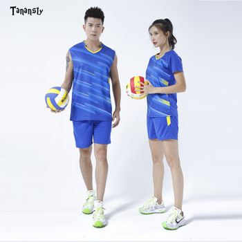 2019 Men's badminton clothes set sleeveless training sports suit sweat absorbent Uniforms T-shirt & Shorts table tennis clothes