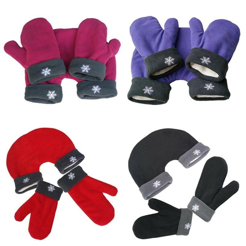3pcs/Set Couple Gloves Polar Fleece Lovers Winter Warm Handle Christmas Gift Romantic Outdoor Couples Mittens