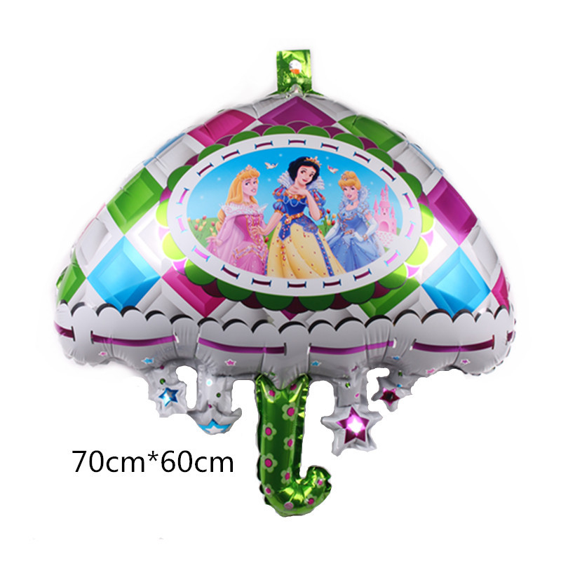 New Birthday Cake Princess Balloons Birthday Party Decoration Balloons High Quality Cartoon Hat