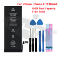 100% новейшая литиевая батарея для Apple iPhone 6S 6 7 5S 5  Сменные Аккумуляторы для мобильных телефонов iphone 5 5s 6 s