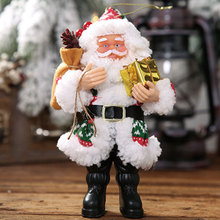 Santa Claus Ornaments Christmas Decorations Resin Standing Small Doll Pendant