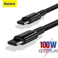 Baseus-Cable USB C a tipo C de 100w, Cable de carga rápida 4,0, PD, para Xiaomi, Samsung, Macbook pro, Cable de datos