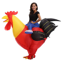 Inflatable Rooster Costume Adult Purim Halloween Carnival Party Costume Chicken Cock Cosplay Costumes Fancy Dress Outfits chicken inflatable rooster rider costumes for adults halloween carnival cosplay party fancy dress women men birthday outfits red