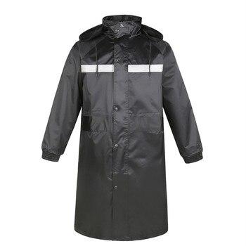 One Piece Twill Waterproof Flood-proof One-piece Raincoat Reflective Long Black Oxford Raincoat Cloth Outdoor Adult Men Women
