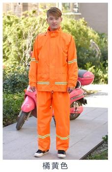 Motorcycle Men Raincoat Set Adult Orange Lightweight Waterproof Women Raincoat Impermeable Travel Hiking Rain Coat Set MM60YY