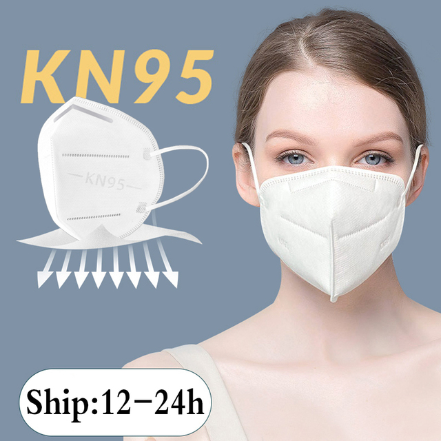 50pcs ffp3 KN95 With Breathing Folding anti Flu 95% Filter Mouth Respirator Dust Face Mask fpp2 N95 KF95