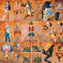 Jeden kawałek 20. Edycja rocznicowa Luffy Sanji Zoro Nami Chopper Robin Jinbe Brooke pcv figurka-Model kolekcjonerski zabawki