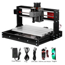 KKMOON-Laser à graveuse CNC/3018 Pro, commande GRBL, Machine CNC, fraiseuse à bois, pour bricolage, graveuse et découpe CNC