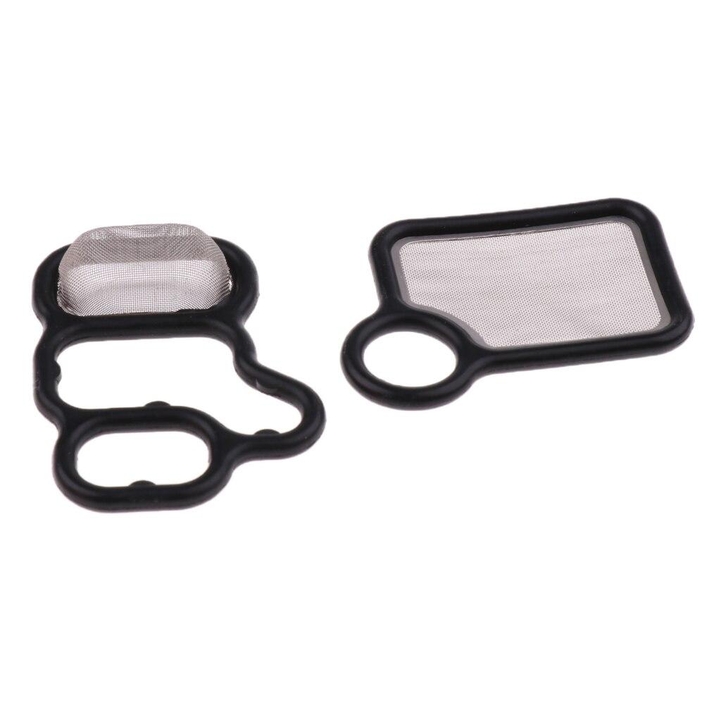 2 Pieces VTEC Solenoid Gasket Spool Valve 15815RAAA01 15815RAAA02 For