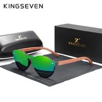 Custom LOGO 2020 Natural Wooden Sunglasses KINGSEVEN Bubinga Men's Polarized Glasses Wooden Fashion Sun Glasses Original