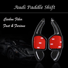 Roda de Fibra de carbono Paddle Shift Shifter Para Audi A3 S3 A4 A5 A6 A7 A8 TT TTS SQ5 RS3 Q3 Q5 Q7 S5 S6 R8 Carro Shift paddles
