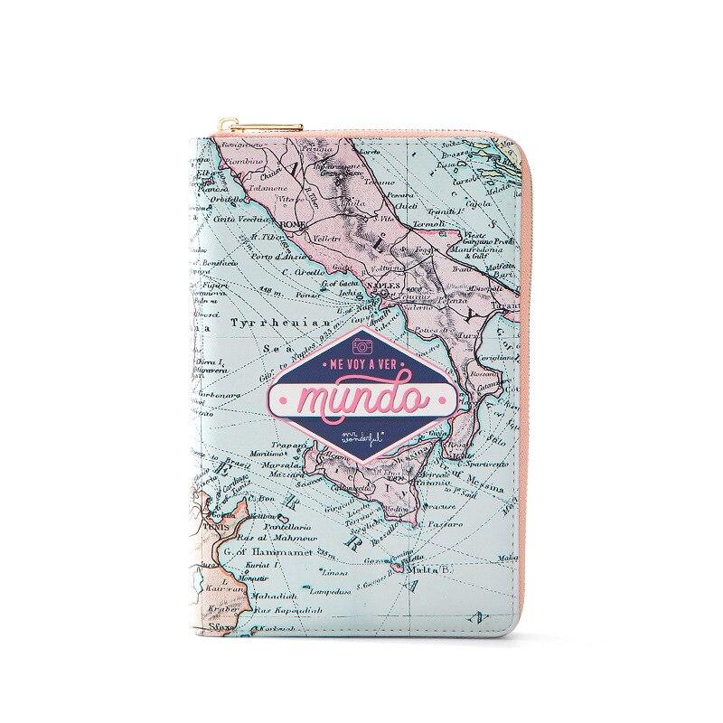 WEICHEN nouveau sac de passeport Multi fonction fermeture éclair sac à main porte-certificat couverture de passeport porte-passeport Pu