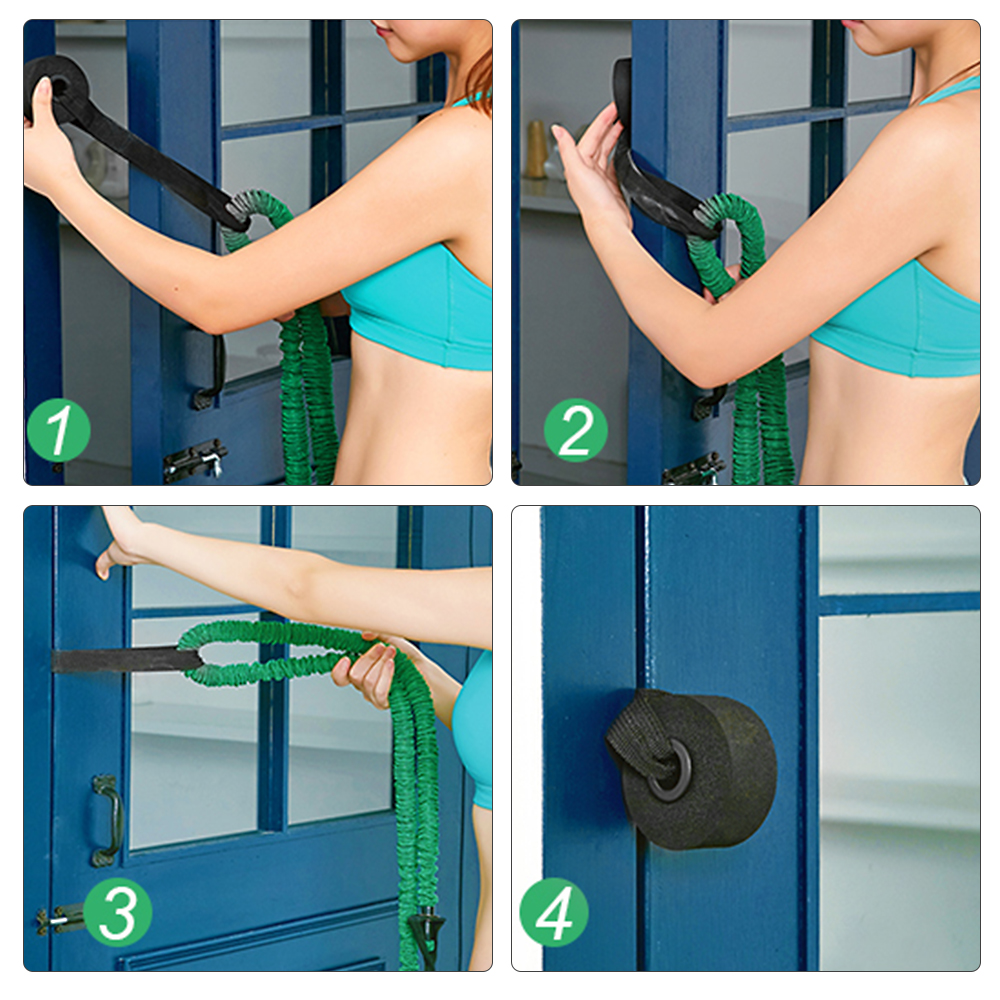 Exercise Yoga New Over Door Anchor Resistance Bands Home Fitness  Elastic Band