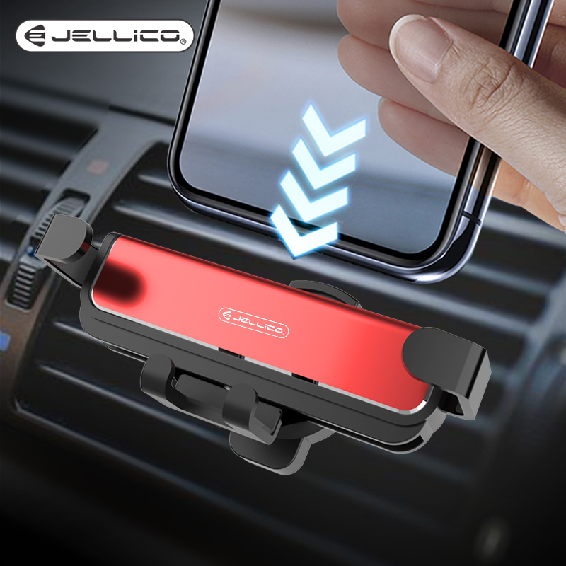 Jellico Mobile Phone Holder Car Holder Gravity Bracket Air Vent Stand Mount Support Holder Stand Accessories Telefon Tutucu