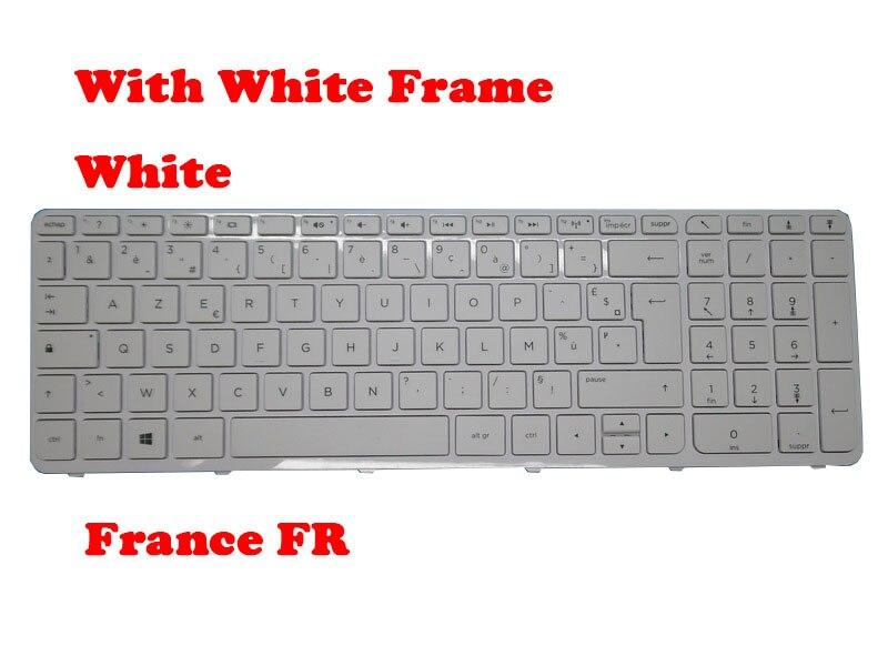 Клавиатура для ноутбука HP Pavilion 15-N000, 15-N100, 15-E000, белая с белой рамкой, Nordic NE/ France FR 720597-DH1 720597-051