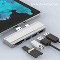 Mosible usb-хаб 3,0 док-станция для Microsoft Surface Pro 4/5/6 для USB3.0 Порты и разъёмы, совместимому с HDMI SD/TF Card Reader сплиттер адаптер