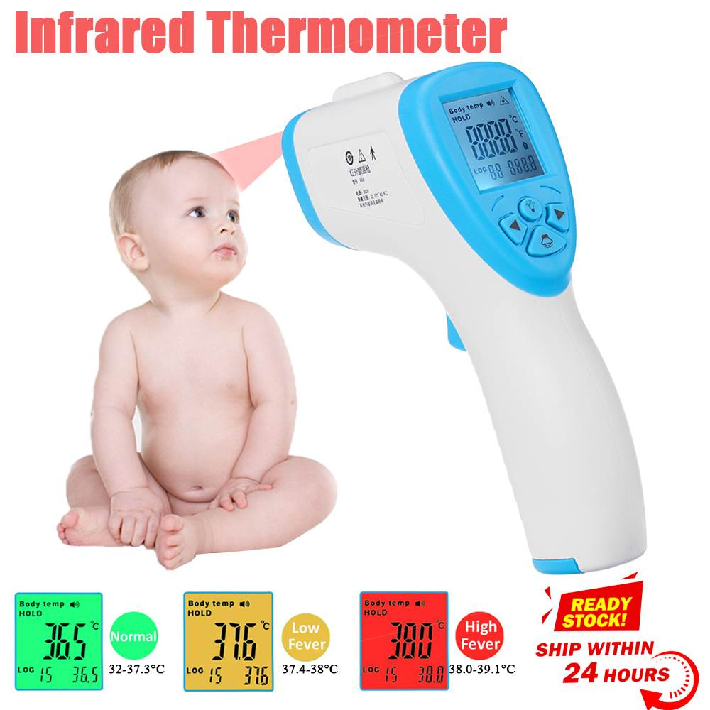 Body Thermometer Infrared Forehead Thermometer for Baby Adult Digital Thermometer Gun Non-contact Temperature Measurement Meter