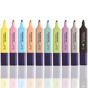 Image 5 - 8 sztuk lub 9 sztuk/zestaw STAEDTLER wyróżnienia ukośne Marker dzieci Graffiti Journal Marker uwaga długopis szkolne materiały papiernicze