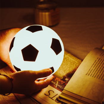 Silicone Football LED Night Light Touch Sensor Dimmable USB Rechargeable Bedroom Bedside Lamp for Children Kids Baby Fans Gift night light newest style the totoro usb portable touch sensor led baby nightlight bedside lamp touch sensor night lamp for kids