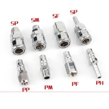 C type Pneumatic fitting Quick connector High pressure coupling PF+SF40 PP+SP40 PM+SM40 PH+SH40 work on Air compressor