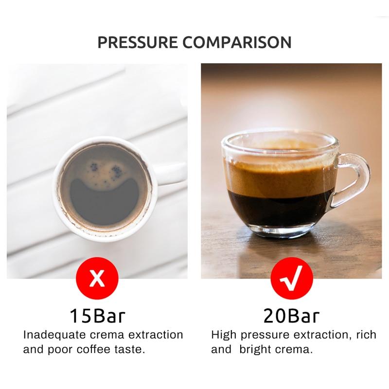 HiBREW 20 Bar Espresso Coffee Machine inox Semi Automatic Expresso Cappuccino Maker Steam Wand Hot Water Temperature Meter H5 4