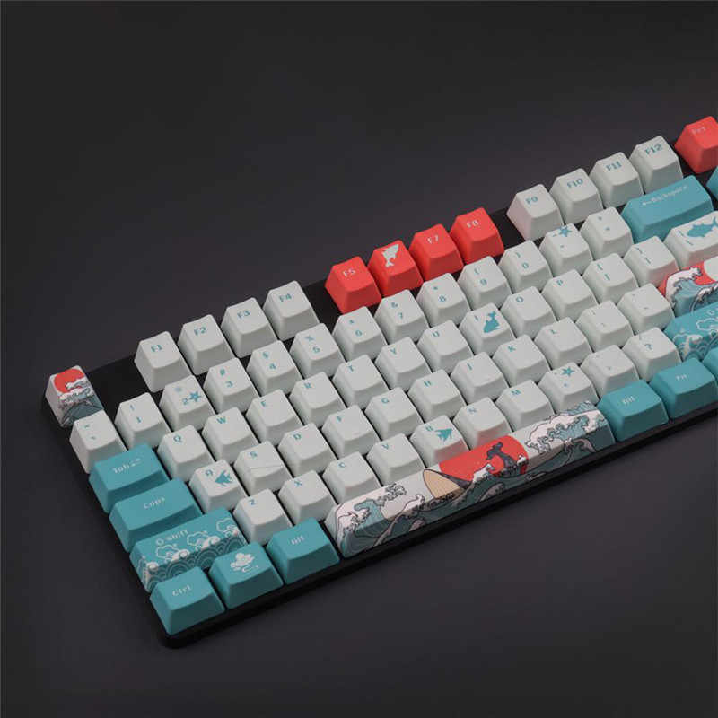 red 104printed Yellow keycap Mechanical Keyboard PBT keycap,for Mechanical Keyboard Ifeiyo keycap
