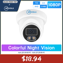 Movols 1080P צבעוני ראיית לילה מעקבים מצלמה Ahd/tvi/cvi/אנלוגי 4 ב 1 cctv מצלמה עמיד למים sony חיישן מצלמה אבדון