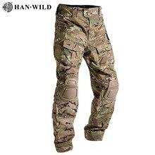 Plus Size 8XL Cargo Pants with Knee Pad Men Multicam Military Tactical Pants Camo Army Uniform Paintball Trouser Hiking Pants