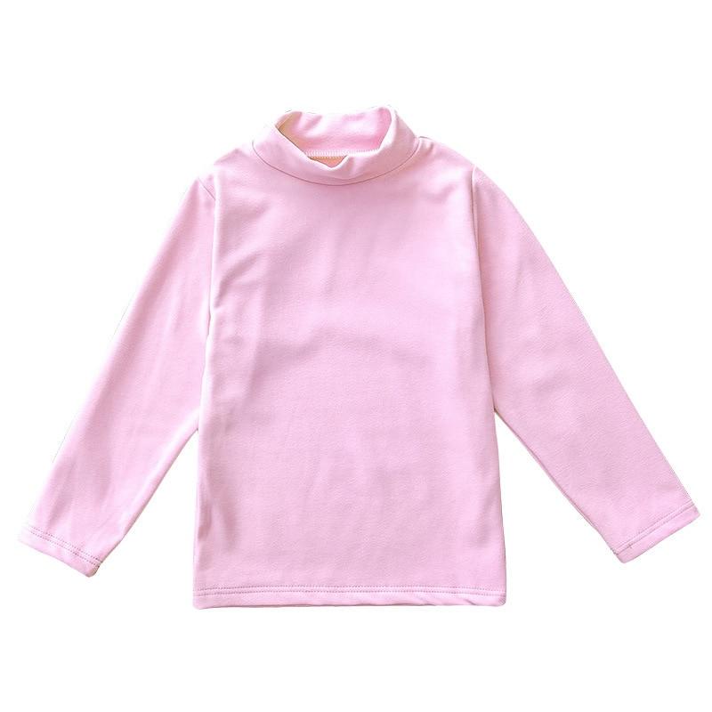 Solid Boys T-Shirts Autumn Long Sleeve Turtleneck High Collar Tee Shirts Warmer Girls Bottoming Shirt Kids Top underwear 2-16Y 2