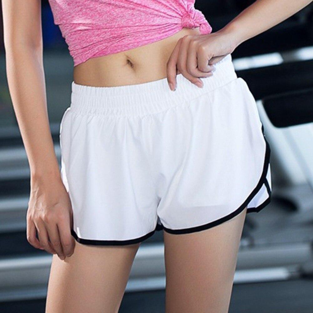 fashion women gym yoga shorts with pockets high waist Tight breathable Casual sport leggings short (9)