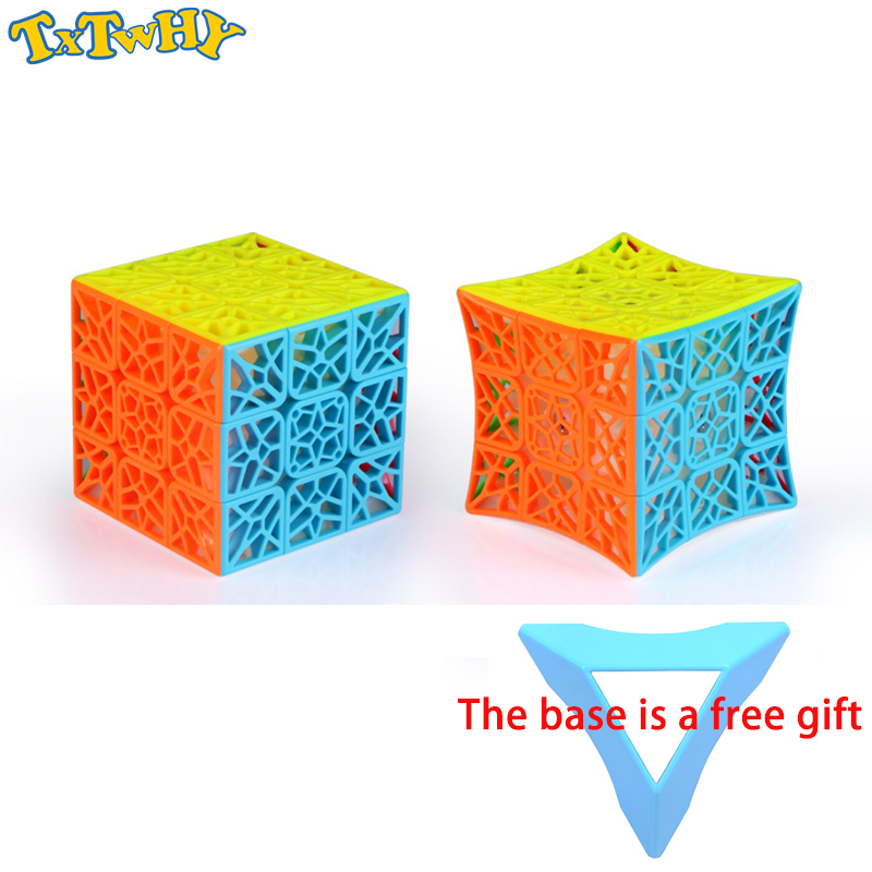 Qiyi adn plan creux 3x3x3 Cube magique Concave 3*3Cubo magique collant vitesse Pulzze jeu Cube jouets Spinner pour enfants