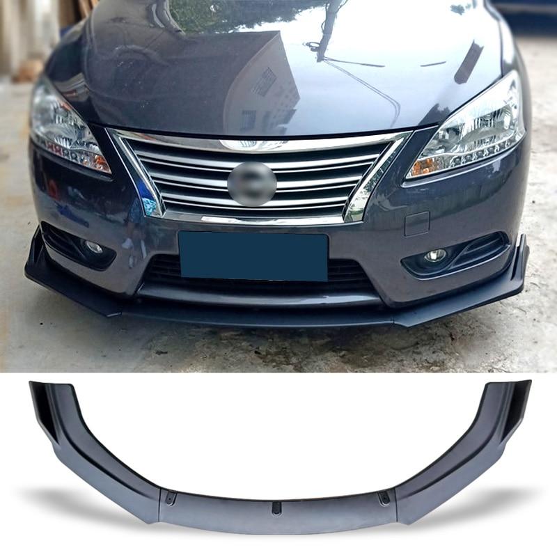 Placa Protetora Lip Kit Corpo de Carbono do Amortecedor dianteiro Spoiler Carro Superfície Pá do Queixo Para Nissan Sentra Sylphy 2012-2015