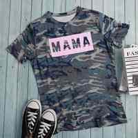 Vogue femmes à manches courtes Harajuku T-shirt maman Camouflage graphique Baseball T-shirt Femme Ulzzang haut coréen vêtements grande taille