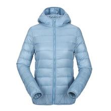 ZOGAA Women Ultra Light Down Jacket Hooded Winter Duck Down Jackets Women Slim Long sleeve Parka Zipper Coats Pockets Jackets