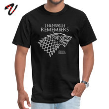 Cheap Black Tops T Shirt Game of Throne Dragon Wolf Design The North Remembers Thrones Men Shirts Printing Clothes