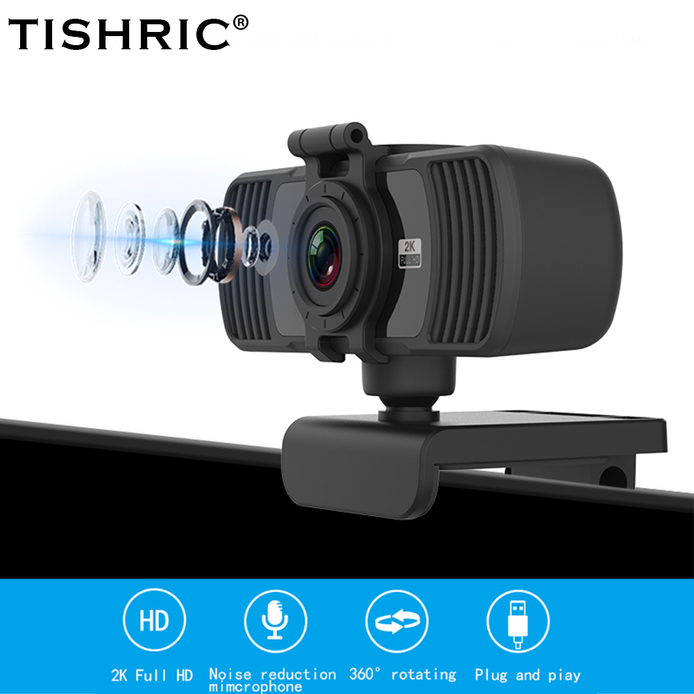 Tishric PC-C6 Computer Peripherals 400W Webcam Full HD 1080p 360° Rotary Joint Web Cam USB Webcam PC Web Camera with microphone 1