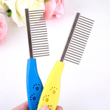 Pet Products Stainless Steel Pet Dog Comb for Dogs Cats Hair Removal Single Row Straight