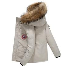 купить Canada Jacket Down Coat Men Thick Warm Duck Down Hooded Natural Fur Collar Winter Jacket Women Down Jacket Windproof casacos по цене 3419.39 рублей
