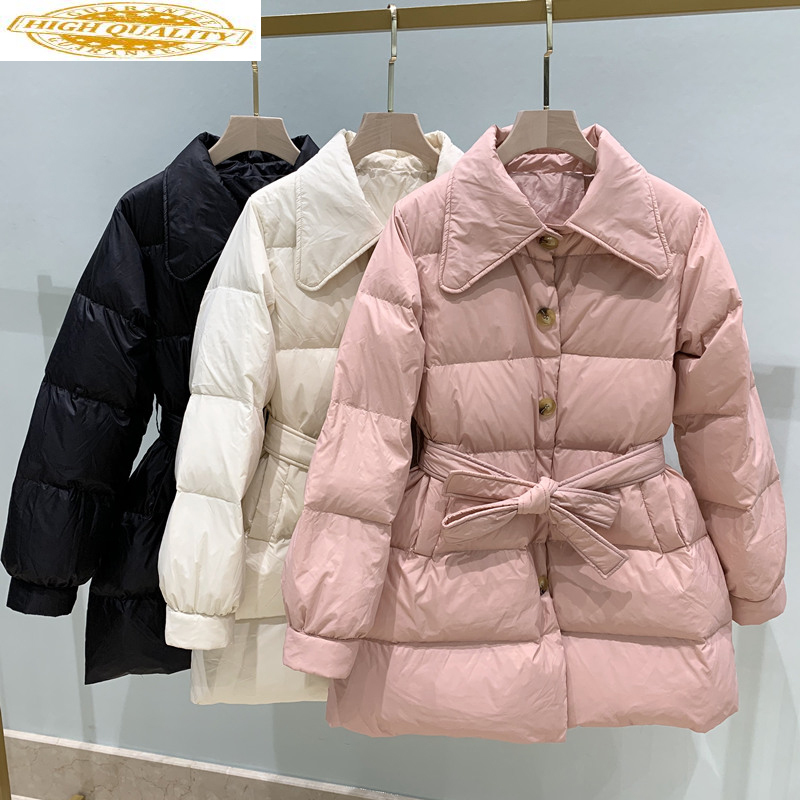 2020 Winter Coat Women Korean 90% Duck Down Jacket Puffer Womens Coats Winter Light Doudoune Femme Hiver KJ3719