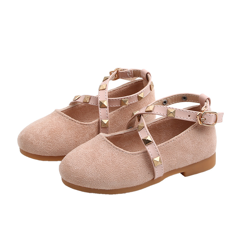 2020Spring New Baby Girls Shoes Kids Little Girls Princess Shoes Rivet Single Shoes For Cocktail Party Girl Dance Shoes