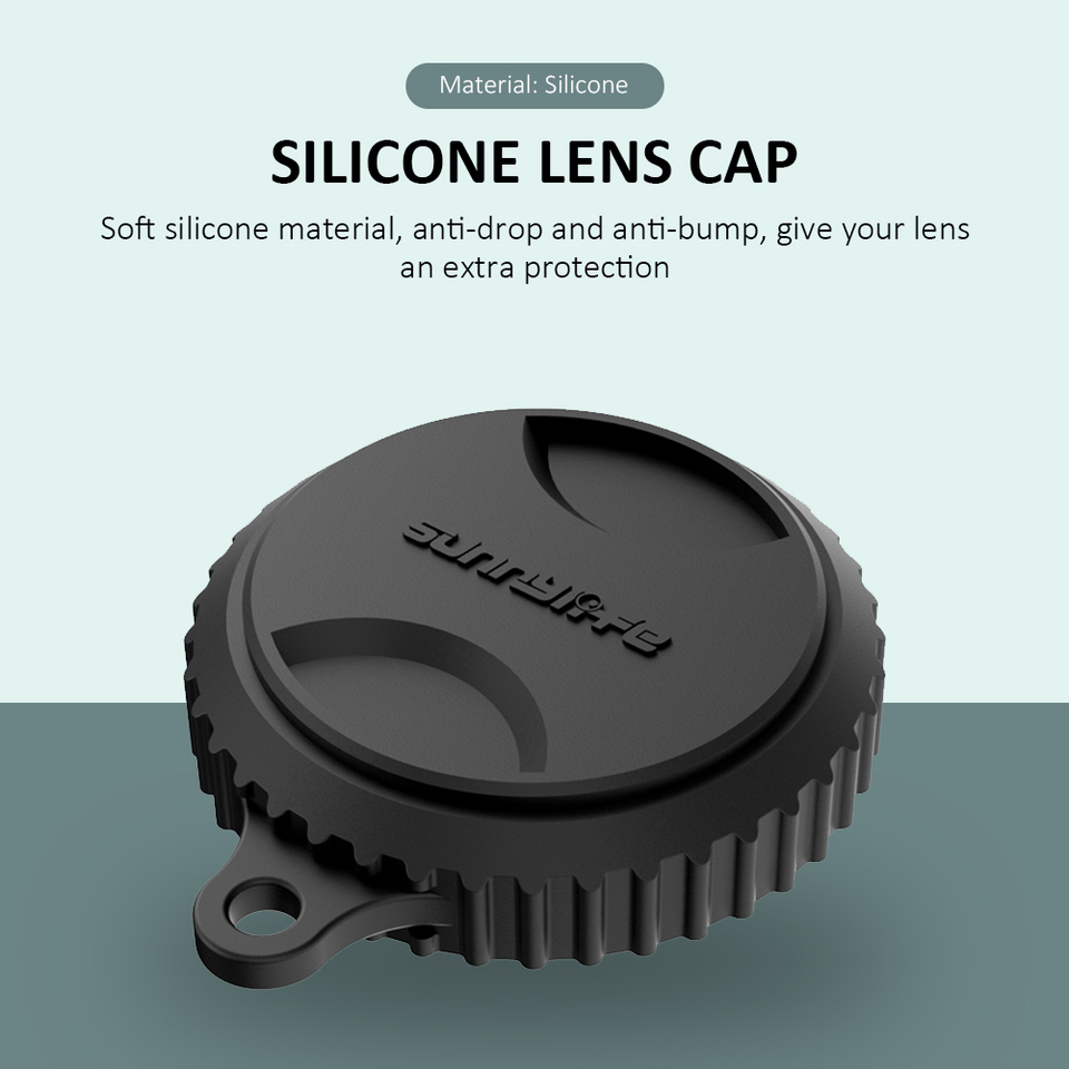 1 inch Wide Angle Lens Cover Silicone Lens Protector Cap for Insta360 One R