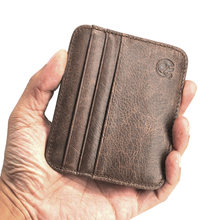 Genuine Leather Credit ID Card Holder Wallet Men Women Purse Money Case Driver's License Cover Cowhide Card Holder NR161