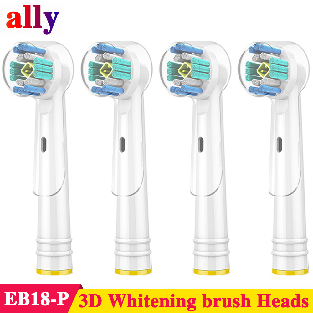 4X 3D Whitening Electric toothbrush heads For Braun Oral B Vitality Triumph D18 D19 Electric Toothbrush Heads image