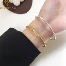 XIYANIKE-pulsera de bambú de Plata de Ley 925 para mujer, pulsera con apertura ajustable, de lujo