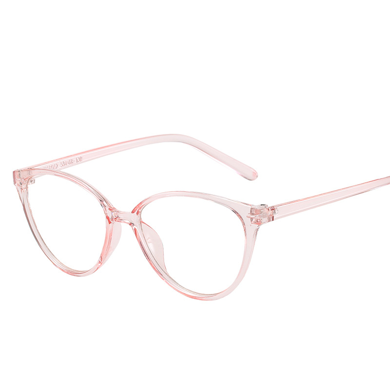 Lady Spectacles Retro Cat Eye Women's Glasses Flat Lens College Style Transparent Eyeglasses